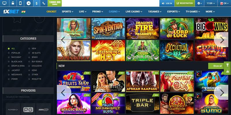 Online Casino Games at 1xBet