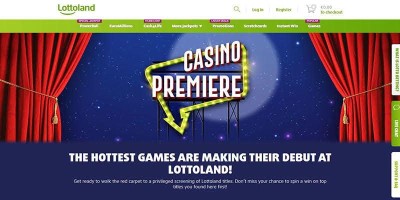 Lottoland India Homepage Screenshot
